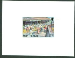 Montserrat 1986 Public Market $1.50 glossy MASTER PROOF
