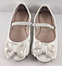 Ruby & Bloom White Elsie Bow Balerinas Toddlers Size US 9.5M NWD