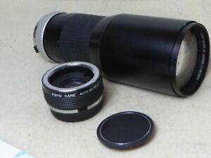 Hoya 400mm 800mm f5.6 Telephoto Lens for Olympus OM Cameras om1 om2 om1n om2n