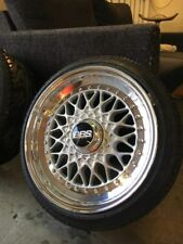 "BBS RS 15"" 4x100 070 + 071 VW GOLF POLO FELGEN MK1 3TEILIG"