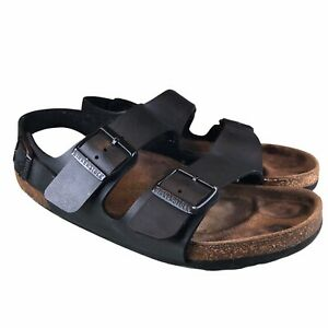 BIRKENSTOCK Betula MILANO BLACK Sandals Slingback/Back Strap 40 W9-9.5 M7 Unisex