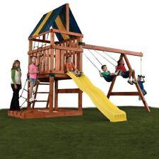 Outdoor Backyard Playground Hardware Custom Kids Play Set Swing Slide Playhouse