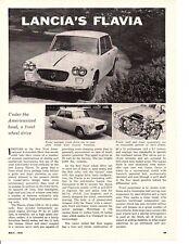 1961 LANCIA FLAVIA ~ ORIGINAL ARTICLE / AD