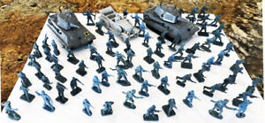 172 Airfix 1/72 WWII German Wehrmacht + 2 tanks + 3 Arty - No Box - Good Cond