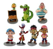 Jake & Neverland Pirates Playset 7 Figure Cake Topper * USA SELLER* Toy Doll Set