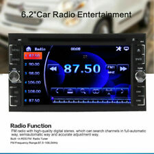 "1* Car Stereo Radio DVD Player CD 6.2"" Touch Screen With Rear Rear Camera"