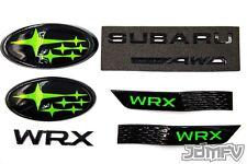 15-19 WRX F/R EMBLEMS, TRUNK LETTERING, GARNISH R/L, Badges AWD, Logo- GREEN