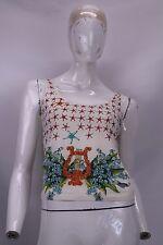 VERSACE Polo Maglia Maglietta T-Shirt Camiseta Tg L Woman Donna T1