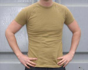 DUTCH ARMY G1 ECW MUSTARD THERMAL SHORT SLEEVE TOP COLD WEATHER BASE LAYER SHIRT