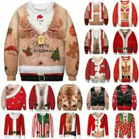 Womens Mens Ugly Christmas Sweater Xmas Party Jumper Pullover Sweatshirt Tops