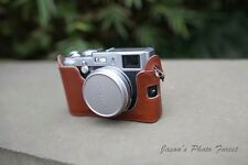 Genuine Real Leather Half Camera Case Bag Cover for FUJI X100S X100