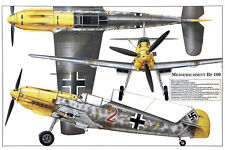 BF-109 Messerschmitt Luftwaffe fighter WW2 German airplane poster 20x30