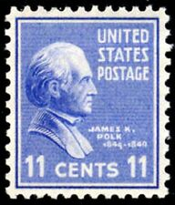 1938 11c James K. Polk Scott 816 Mint F/VF NH