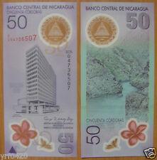 NICARAGUA Polymer Banknote 50 Cordobas 2010 UNC