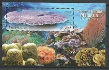 ˳˳ ҉ ˳˳MYS003 Malaysia 2013 'Living Coral' M/Sheet recent/new Very Fine Used Sea
