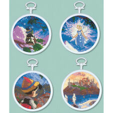 Thomas Kinkade Cross Stitch Kit - Disney Pinocchio Mini Vignettes