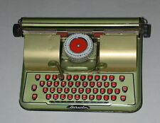 VINTAGE BERWIN GOLD TIN TOY TYPEWRITER 1940'S CHILDERNS METAL