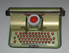 VINTAGE BERWIN GOLD TIN TOY TYPEWRITER 1940'S CHILDERNS METAL