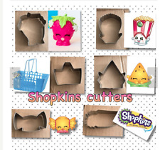 Set Of 6 Shopkins Stainless Steel Cookie Cutters Baking And Birthday Party Gifts