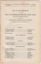 List of Members in The House of Representatives During The 43rd Congress 1874