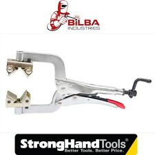 """Strong Hand Tools 11"""" Pipe Clamp/Welding Plier with Adjustable V Pads-PG114V"""