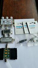 Job lot of tv aerial splitter aerial amplifire maplin phono plug