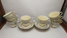 Like New Set of EIGHT Minton Penrose Cup & Saucer Sets in Excellent Condition