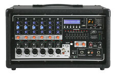 Peavey Pvi6500 400 Watt 6-Channel Powered Live Sound Mixer w/ Bluetooth PVI 6500