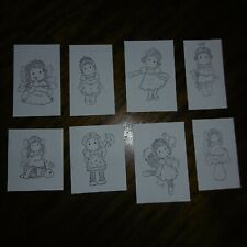 PRINCESS* 8 Different Black Cards*Birthday*Christmas*TOPPERS