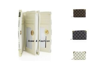 Ladies Women's Pattern Medium Purse Bifold Zipped Compartments Wallet Purses UK