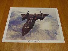 Lockheed SR-71 Blackbird photo/litho 11 x 14