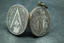 Lovely Antique Victorian 9ct Gold Engraved Photo Locket Pendant Charm A/F Damage