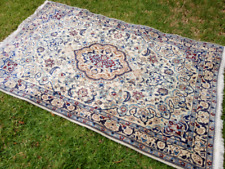 Gorgeous vintage blue and white Persian rug