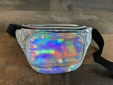 Shiny Metallic Fanny Pack Waist Bag - Silver