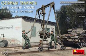 MIN35350 - Miniart 1:35 - German Tankmen w/ Crane & Maybach HL Engine
