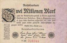 * Ro. 102b - 2 millones de Mark-Deutsches Reich - 1923-Fz: AE *