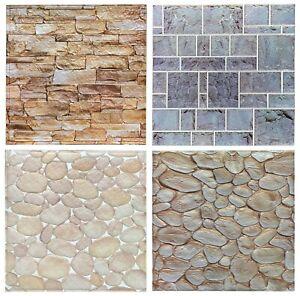 3D Wallpaper Sticker adhesive Leather effect Foam Tile 50cm x 50cm Stone,Pebbles