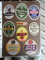 LOLLAND FALSTERS BREWERY 8 DIFFERENT VINTAGE  DANISH BEER LABELS