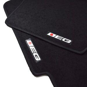 4pc Set Interior Black Floor Mat Custom Fit 92-95 JDM Honda Civic EG