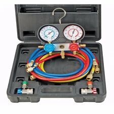 A/C MANIFOLD GAUGE SET W/CASE AIR CONDITIONING REFRIGERATION COMPLETE KIT SEALED