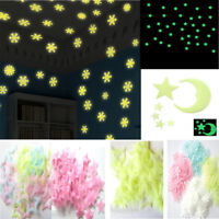 Hot Glow In The Dark Snow Wall Stickers Star Moon Luminous Kids Room Decor