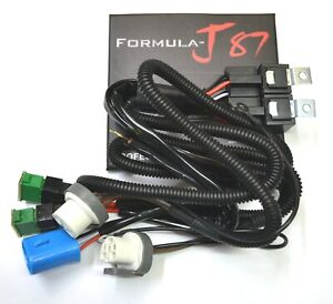 Relay Wire Harness 40A 9004 HB1 Head Light Socket Replacement Ceramic Connector