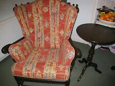 ERCOL TRADITIONAL CLOISTER UPRIGHT WINGED ARMCHAIR