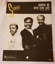 SHOWER ME WITH YOUR LOVE Sheet Music Vintage 1989 Song R&B Soul Love Guitar