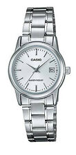 Casio LTP-V002D-7A Women's Standard Stainless Steel White Dial Analog Date Watch