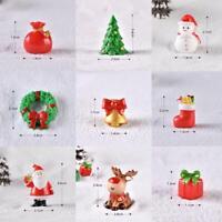 Dollhouse Miniature Christmas Tree Wreath Bear Snowman Gift Box Decor Ornament