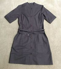 Nau Confidant Dis-dress, Brown Wool Gabardine, Notch Collar Double-Wrap Belt, 4