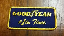 VINTAGE GOODYEAR #1 IN TIRES Iron or Sew-On Patch