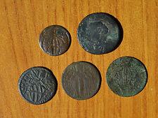 LOTTO 5 MONETA STATO PONTIFICIO BAIOCCHI MEZZO BAIOCCO 1790 1733 1739 SUBALPINA