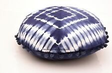 "Indigo Tie Dye Cushion Cover 16"" Shibori Pillows Decorative Throw Pillow Case"
